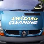 Blue Wizard Cleaning Van