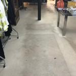 Vinyl Shop Floor Cleaning Before