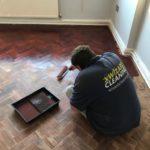 Hard Floor Restoration in Progress